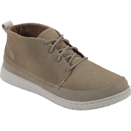 Camp and Hike A casual look, a comfortable feel, and durable construction are what The North Face Base Camp Luxe Chukka Boot are all about. The North Face even hooked the Base Camp up with a 40% recycled rubber sole, so you can feel good while you feel good while you look good. - $109.95