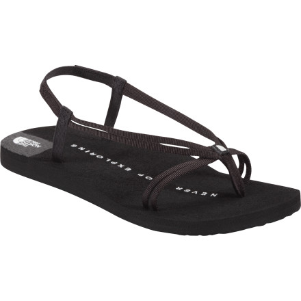 Surf With a strap configuration that would have suited the streets of ancient Rome, The North Face Women's Kekoa Sandal puts a cute twist on a centuries old sandal design. The soft EVA footbed provides ample cushion and comfort while an elastic heel strap makes for easy on and off. - $29.95