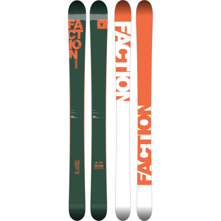 Ski The crew over at Faction Skis believes that skis are tools of escape and expression. We're inclined to agree, as was Candide Thovex when he worked with Faction to create his pro model, the Candide 4.0 Ski. This big-mountain stick is as unique as Candide. On the outside, it's rocker-flat-rocker camber profile and fat waist provide flotation and agility, and on the inside, the balsa wood core combines with flax fibers to create a powerful pop, snappy return, and speed-chatter-impervious chassis. With the attention to detail paid to this balance of materials and shape, it would have been a shame to use simple cap construction on a ski like this, so Faction opted for the strength and precise edge control provided by sidewall fabrication. This is Candide's tool-of-the-trade, and with X-Games medals, legendary Utah gaps, a movie, and countless big-mountain achievements to his name, it's a safe bet that he created one crusher of a rockered ride. - $899.00