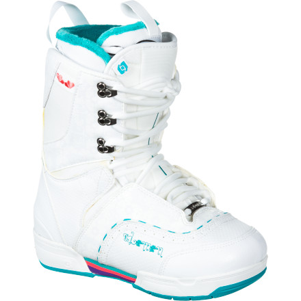 Snowboard Log lines and rail gardens become your shred staples once you lace up the Salomon Women's Dawn Snowboard Boot and hit the mountain. With its toe-pleasing warmth, highly jibbable flex, and classic lace-up design, this boot flexes like a ballerina while you rage through the park or log stash like a beast. - $89.98