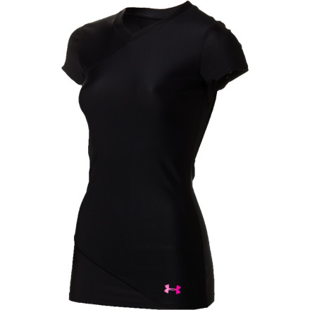 Surf The Under Armour Women's Q-Lightful Rashguard has your back during long hours in the water. This lightweight, short-sleeve rashguard shields your body from harmful UV rays and protects your skin against skin abrasion while you lie on your surf board. - $39.95
