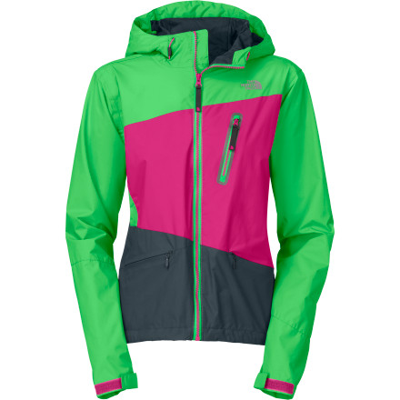 Fitness When you're raging down muddy trails and dropping tough lines, the North Face Women's Woodchip Jacket keeps precipitation off your back so you can focus on those hairpin turns instead of the rain. This breathable jacket with HyVent tech and a hyper-wicking FlashDry lining is great for deep-woods trails in the Pacific Northwest or mountain trails when you can count on not counting on the weather. - $124.95
