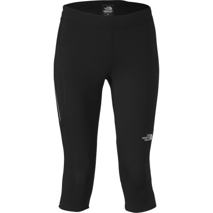 Fitness The North Face Women's lightweight and stretchy Better Than Naked Capri Tight features body-mapped mesh ventilation panels in addition to its moisture-managing VaporWick recycled polyester body construction. A flattering waistband fit and bonded stitchless seams on the inseams optimize comfort and a figure-enhancing look. A zipperless rear security pocket holds your ID, keys, and energy gel, so you have everything you need on the trail. - $69.95