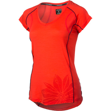 Camp and Hike Whether you're training for your first 10K race, out for a hike with friends, or deep in wilderness on a weeklong backpacking expedition, wear the Icebreaker Women's Flash V-Neck Short-Sleeve Shirt. Made with breathable, temperature-regulating, soft merino wool fabric, the Flash keeps you cool and comfortable. - $79.95