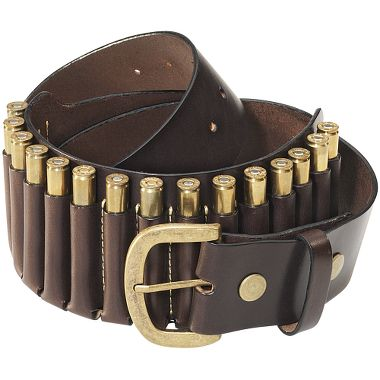 Guns and Military Leather Rifle 15-Cartridge Belt   $44.99