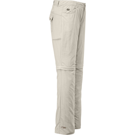 Camp and Hike Count on the versatility of the Outdoor Research Women's Treadway Convertible Pant when you thru-hike through cool high-mountain terrain down into warm, humid forests. Zip-off legs easily remove to turn these full-length pants into comfortable shorts when the climate heats up. - $74.95
