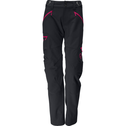Camp and Hike The Norrna Women's Svalbard Flex 1 Softshell Pants keep your legs comfortable whether you're on a cold-weather backpacking trek or you're exploring glaciers far from home. The breathable, weather-resistant softshell Flex 1 fabric stands up to tough use and rugged trails while the ankle and waist adjustments ensure a custom fit. - $174.90