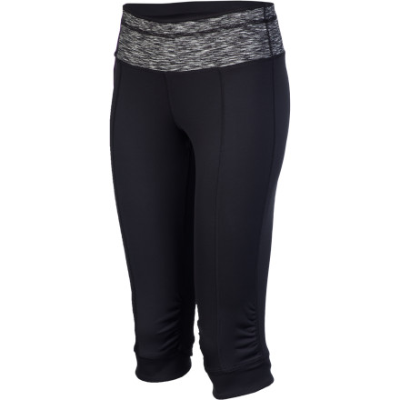 Camp and Hike The prAna Women's Alyson Knicker has a fun knicker style, a sleek fitted cut, and flattering look that all go well with practicing yoga, hiking, climbing, and chilling in your backyard hammock. - $69.95