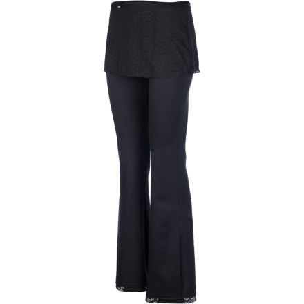 Fitness Spice up your yoga or lounge wardrobe with the prAna Women's Farrah Pant. This flattering pant features a skirt overlay and hem that gets you plenty of compliments and approving looks. - $79.95