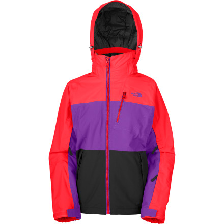 Snowboard Whether you're slaying it in the park or flying through alpine bowls, The North Face Womens Kizamm Jacket uses bold color blocking to give you a look that stands out and high-tech materials to keep you comfortable too. - $99.48