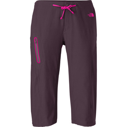 Entertainment The North Face Echo Women's Lake Apex Long Short gives you  casual, laid-back look that is great for dog walks in the park or backyard parties. Plus, the technical fabric will keep you feeling good when you hit the trail. Even if these capris end up soaked during an intense water fight or an accidental swimming session, they dry quickly so you won't have to worry about changing. These long shorts could become the only thing you wear during the summer. - $59.95