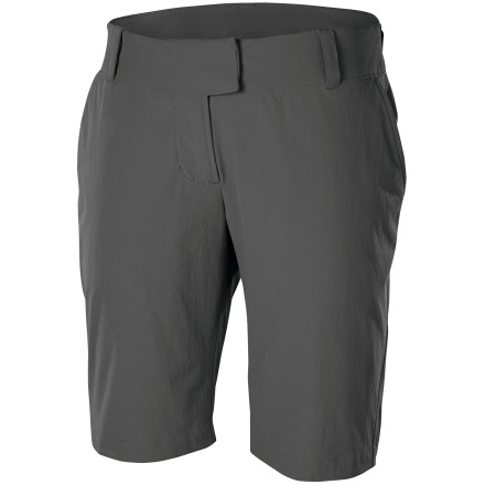 Camp and Hike Crisp and classic, the Isis Women's Portofino Short is equally at home climbing the steep streets of a resort village as it is exploring a mountainside trail. Its stretchy, quick-drying, wrinkle-resistant nylon helps you look and feel fresh, while the understated modern style takes you just about anywhere. - $68.95