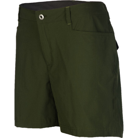 Camp and Hike From rocky trails to rock concerts, the Patagonia Women's Rock Craft Short helps you get your groove on. Not too short and not too long, the Rock Craft features lightweight, stretchy technical nylon fabric that moves with you as you high-step through your summer. - $59.00