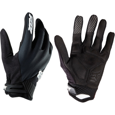 Fitness The Women's Reflex Glove is a Fox Racing favorite because of its lightweight, ultra-breathable construction and impact-absorbing, strategically located gel inserts. The women-specific fit  gives the Reflex a natural fit and feel. The Fox Racing Reflex Glove is made with perforated leather and air mesh fabric to allow air to flow freely through the glove to keep you dry and comfortable. The Ax Suede Fit palm is extremely durable and provides lots of grip so you don't come off the bars accidentally and pull an involuntary handlebar superhero. Strategically placed gel pad inserts protect your hand from impacts and from vibration that can cause fatigue after hours in the saddle. Silicone detailing on the inside of the fingers helps you grip your brake levers and shifters, and a suede-covered thumb helps this high-wear area last through seasons of abuse. The Fox Racing Women's Reflex Glove comes in sizes S through L and is available in Teal, Pink, and Black. - $32.95