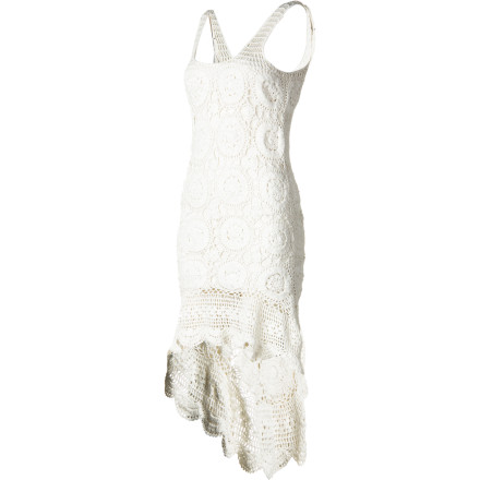 Surf You've never met a more versatile dress than the soft and stretchy Billabong Women's Open Heart Dress. Wear this hand-crochet, high-low tank dress with its removable mini slip dress when hitting the town, or wear it solo as a coverup at the beach or pool party. In a cool, summery white hue and with a romantic lacy look, the Open Heart will feel the love. - $80.51