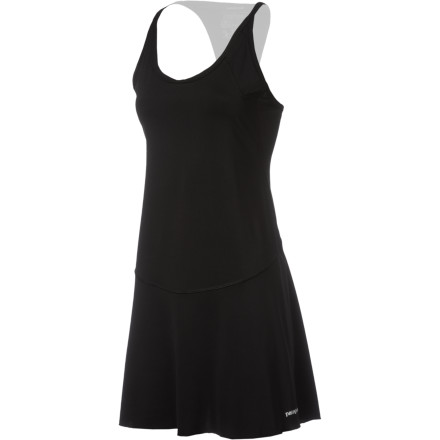 Fitness Wear a dress while running' Why not' Shake things up with the Patagonia All-Weather Dress, a stretchy, wicking, comfortable alternative to the same-old, same-old. Layer it over a sports bra and some boy shorts and you're not only ready for a killer run, but you're dressed for whatever you might get up to afterward. - $59.00