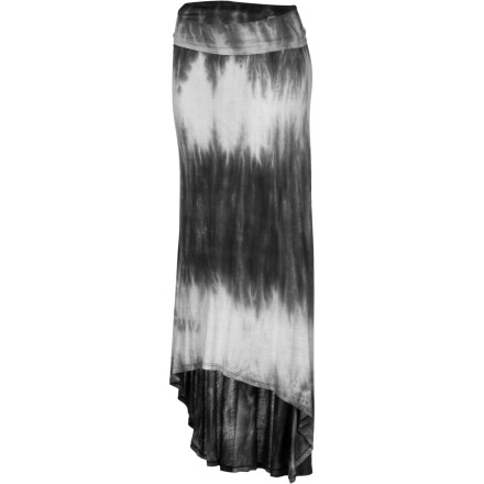 Surf In silky-smooth yet breathable viscose, the summery Billabong Women's Skirt Away Maxi Skirt fits the bill at both the beach or an uptown brunch. It features a drapey high-low hemline and allover tie-dye wash to convey fresh, fun style. A fold-over waistband lets you choose where it sits, high or low, and fits in comfort every day. - $39.45