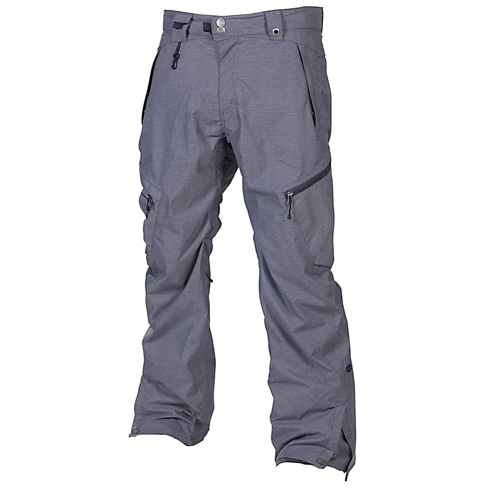 Snowboard 686 Plexus Plasma Mens Snowboard Pants - The 686 Plexus Plasma Snowboard Pants are built to keep you very warm and dry when you're spending the whole day out on the mountain. With its 20k waterproof rating and fully taped seams you will have no worries about the chilly precipitation seeping in. Its 15k breathability rating ensures that as you work up a sweat the moisture will be able to leave the pants. infiDRY-20 is a technological feature that makes snowboarding in these pants in the cold weather and crazy, blizzard-like conditions easier on your body. To help keep the heat trapped into the key areas of the pants is 80 grams of Infi-Loft Insulation so as the temps dip below the twenty degree mark, you'll still be warm. Speaking of which, the warmth rating of 5 means you'll have plenty of comfort and warmth in the fifteen degree and higher weather so layer up if the temps head toward the sub-zero range. With plenty of pockets and room to store anything you could want to take on your next mountain adventure, the 686 Plexus Plasma Snowboard Pants are a perfect fit for any versatile rider. . Exterior Material: 100% Poly Blend Heather Houndstooth, Softshell: No, Insulation Weight: 80 Grams, Taped Seams: Fully Taped, Waterproof Rating: 20,000mm, Breathability Rating: 15,000g, Full Zip Sides: No, Thigh Zip Venting: Yes, Suspenders: None, Gortex: No, Articulated Knee: Yes, Cargo Pockets: Yes, Warranty: One Year, Race: No, Waterproof: High Waterproofing (15,001 - 20,000mm), Breathability: Moderate Breathability (10,001 - 1 - $99.89
