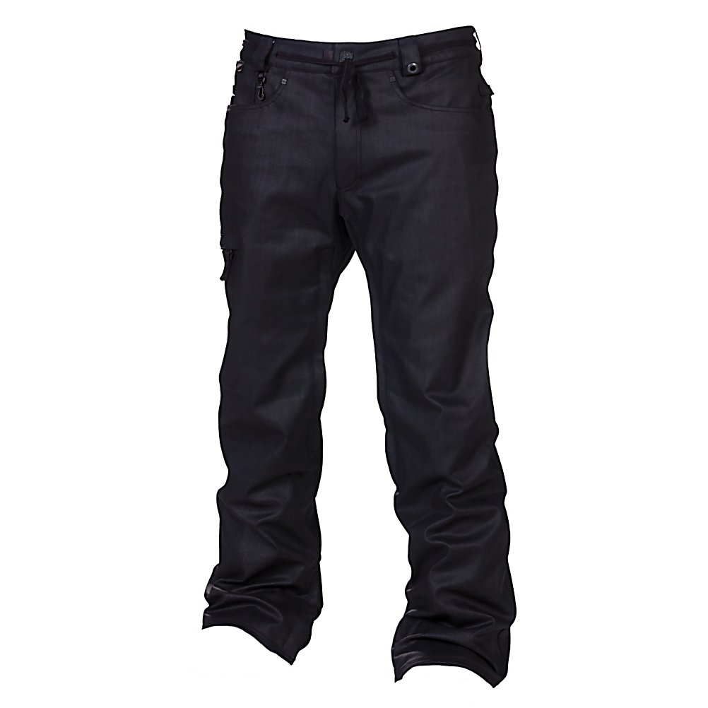 Snowboard 686 Reserved Raw Wax Mens Snowboard Pants - When you need a reliable pair of snowboard pants then you should be wearing the 686 Reserved Raw Wax Snowboard Pants. These pants have an infiDRY-10 rating providing great protection against some of the harshest weather that winter wants to throw your way. It does have a warmth rating of 4 which means they will keep you cozy in temps hovering around 20 degrees but anything lower and you'll want to add some layers. But when it comes to keeping you dry, you'll have critically taped seams and a 10k waterproofness keeping the chilly precipitation on the outside. There are five pockets to help ensure that everything you need is nearby so feel free to bring your wallet, Chapstick and car keys. Enough style to keep you looking good and enough features to keep you warm and comfortable, the 686 Reserved Raw Wax Snowboard Pants are a trendy choice for the versatile rider. . Exterior Material: 98% Cotton, 2% Poly Blend Wax Denim, Softshell: No, Insulation Weight: 40 Grams, Taped Seams: Critically Taped, Waterproof Rating: 10,000mm, Breathability Rating: 8,000g, Full Zip Sides: No, Thigh Zip Venting: Yes, Suspenders: None, Gortex: No, Articulated Knee: Yes, Cargo Pockets: Yes, Warranty: One Year, Race: No, Waterproof: Mild Waterproofing (5,001 - 10,000mm), Breathability: Mild Breathability (5,001 - 10,000g), Use: Snowboard, Type: Insulated, Pant Fit: Regular, Lining Material: 100% Nylon Taffeta, Waist: Beltloops, Pockets: 5-6, Model Year: 2013, Product ID: 309410, Model Number: L2W205A B - $129.89
