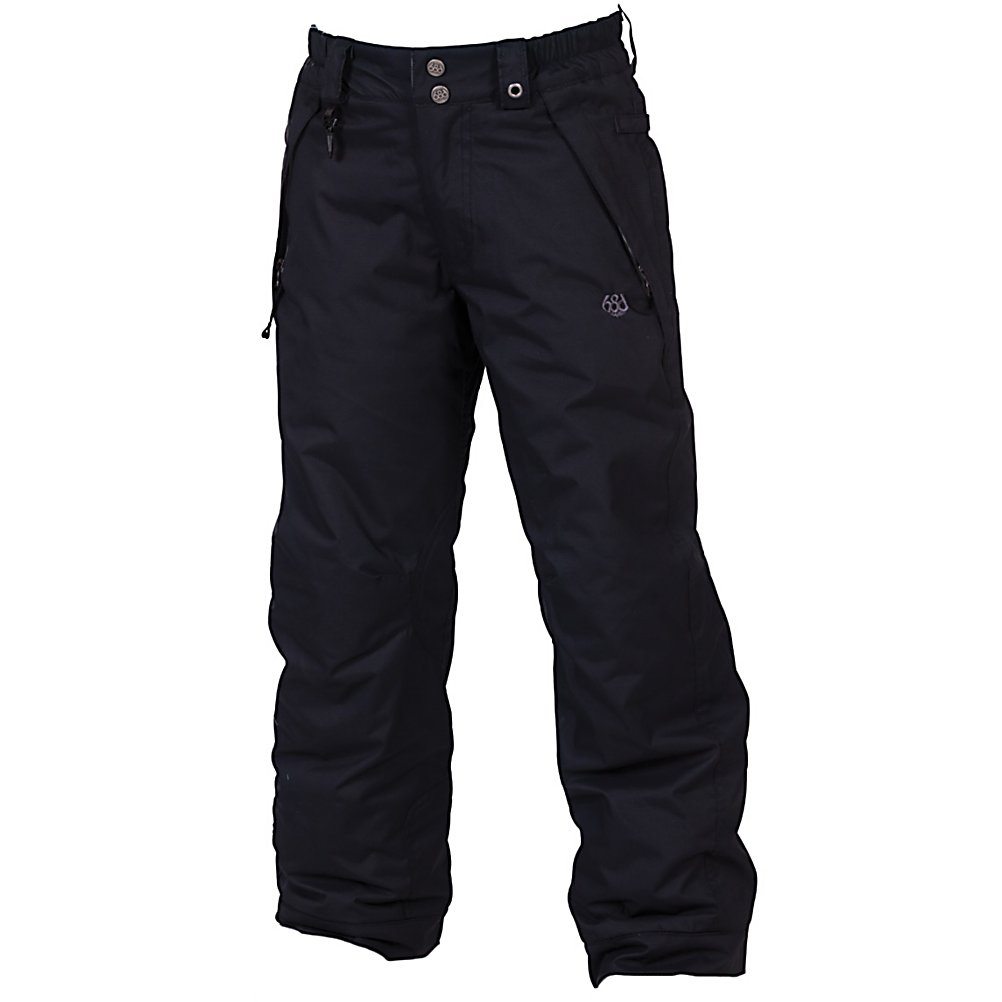 Snowboard 686 Mannual Brandy Girls Snowboard Pants - One of the best ways to ensure your child has a good time on the mountain is to make sure that they stay warm. With the 686 Mannual Brandy Snowboard Pants, they will stay warm and dry even as the temperatures reach chilly levels and the snows start to fall. Made with infiDRY, they will be protected in winter conditions as a 5k waterproof level and critically taped seams keeps the moisture out. With the Youth Evolution Extension System you can increase the length of the pants so they don't grow out of them after one season of use. They'll have pockets to store the necessities and knee reinforcements to maintain durability as they play in the snow. The 100% Nylon Taffeta is cozy to the touch too. When your little girls wears these 686 Mannual Brandy Snowboard Pants, they will feel warm and comfy and they'll be happy to be spending more time on the mountain as oppose to being inside trying to warm up. . Exterior Material: 100% Nylon Dobby, Insulation Weight: 80 Grams, Taped Seams: Critically Taped, Waterproof Rating: 5,000mm, Breathability Rating: 5,000g, Full Zip Sides: No, Thigh Zip Venting: No, Suspenders: None, Articulated Knee: Yes, Warranty: One Year, Race: No, Waterproof: Water Resistant (< 5,000mm), Breathability: Low Breathability (< 5,000g), Type: Insulated, Pant Fit: Regular, Lining Material: 100% Nylon Taffeta, Waist: Elastic, Model Year: 2013, Product ID: 309450, Model Number: L2W802 BLK XS, GTIN: 0883510201583, Pockets: 3-4, Gortex: No, Softshell: No, Use: Snowboar - $69.95