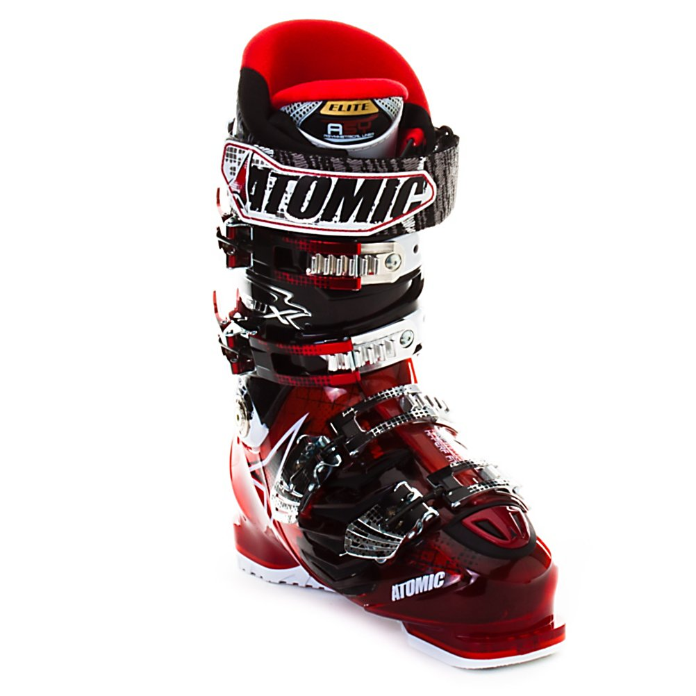 Ski Atomic Hawx 120 Ski Boots - The Hawx 120 was made for the sole purpose of hauling you down the steepest and gnarliest terrain with reckless abandon. At a 120 flex it requires strong legs and a demanding skier to push the Hawx 120 properly but every ounce of energy get returned to you, so intermediates and below should NOT consider the 120. To be a Hawx boot the 120 has to have I-Flex zones which allow for better forefoot flex, equaling better balance and more control. So not only does the Hawx 120 want to run like a wild horse it can steer like a go-kart. To amplify the power and precision of the shell a ASY Elite liner is used in the Hawx 120. The ASY Elite pulls no punches with a fully heat moldable design, dense and responsive foams, and for a touch of comfort an Alacantara lining to keep them nice and warm. With a 100mm profile the Hawx 120 is almost a race boot but retains a level of all day comfort that make for happy feet at the end of the day. If skiing means pushing your comfort level with every turn and regularly finding the limits of your speed the Hawx 120 will lend you it's wings. . Actual Flex: 120, Cuff Alignment: Dual, Warranty: One Year, Special Features: I-Flex Zones, Special Features: ASY Elite Liner, Flex: Stiff, Used: No, Ski/Walk: No, Prewired For Heat: No, Number of Micro Buckles: Four, Flex Adjustment: No, Buckle Count: 4, Buckle Material: Aluminum, Skill Range: Advanced - Pro, Model Year: 2012, Product ID: 227144, Ski Gear Intended Use: All Mountain, Category: Downhill, Forefoot - $199.95