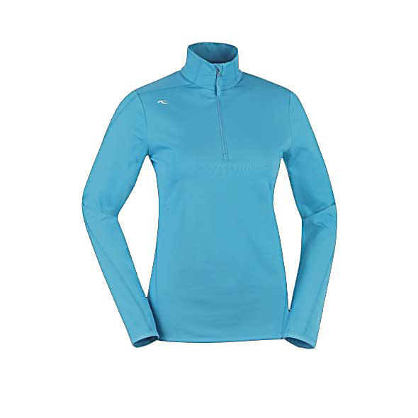 Ski KJUS Element Half Zip Womens Mid Layer - The Kjus Element Half Zip Mid Layer will become your go-to thermal shirt that is sleek and sporty with stretch that you can use as a base layer or a midlayer. This shirt will efficiently move moisture away from your body, and an antibacterial finish ensures that it doesn't develop odors. You can move freely with the stretch fabric without your layers binding. This is a thermal shirt that's technical enough to see you through a long day on the mountain, and comfortable enough to wear long after the day is done. The Kjus Element Mid Layer wicks moisture away from your skin keeping you dry and protected. The soft elasticized hem offers a comfortable fit that stays in place. . Material: Polyester/Spandex, Category: Mid-Weight, Warranty: Lifetime, Battery Heated: No, Closure Type: Partial Zip Top, Wind Protection: No, Type: Turtleneck or Layering, Material: Synthetic, Wicking Properties: Yes, Sleeve Type: Long Sleeve, Water Resistant: No, Model Year: 2013, Product ID: 309289, Model Number: LS25-505.25600 XS, GTIN: 7612997325221 - $89.95
