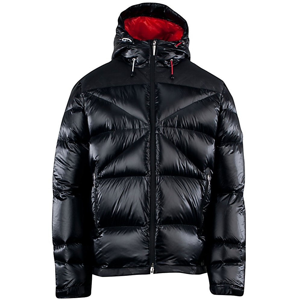 Ski Spyder Bernese Down Mens Insulated Ski Jacket - If your going on any expedition, whether it's the backcountry of Whistler, British Columbia or even heading to Antarctica you are going to want the Spyder Bernese Down Jacket. The Bernese is the highest fill down Spyder makes and is warm, lightweight, and packable so it can be worn alone, under a shell, or be stowed in your pack. A water-repellent shell and 700 fill-power down insulation lets you explore conditions that for most people who would be out of reach. Underarm zippers allow for perfect ventilation when you feel like your overheating. Adjustable cuffs and drawcord allow you to seal out unwanted snow and drafts. The Spyder Bernese Down Jacket is going to allows user the ability to ski places most people have only dreamed of. Features: Internal zippered pocket and mesh goggle pocket, Drawcord adjustable hem. Exterior Material: 15D Downproof Nylon Ripstop with Spylon+ DWR, Insulation Weight: 700D Goose, Taped Seams: None, Waterproof Rating: 20,000mm, Breathability Rating: 20,000g, Hood Type: Fixed, Pit Zip Venting: Yes, Powder Skirt: No, Warranty: Lifetime, Battery Heated: No, Race: No, Type: Insulated, Cut: Regular, Length: Long, Insulation Type: Down, Waterproof: Totally Waterproof (20,000mm+), Breathability: Very High Breathability (>15,001g), Cuff Type: Velcro, Wrist Gaiter: No, Waterproof Zippers: No, Cinch Cord Bottom: Yes, Model Year: 2013, Product ID: 309920, Model Number: 123002001 M, GTIN: 0886311202254, Use: Ski, Hood: Yes, Goggle/Sunglasses Pocket: Yes, Poc - $299.95