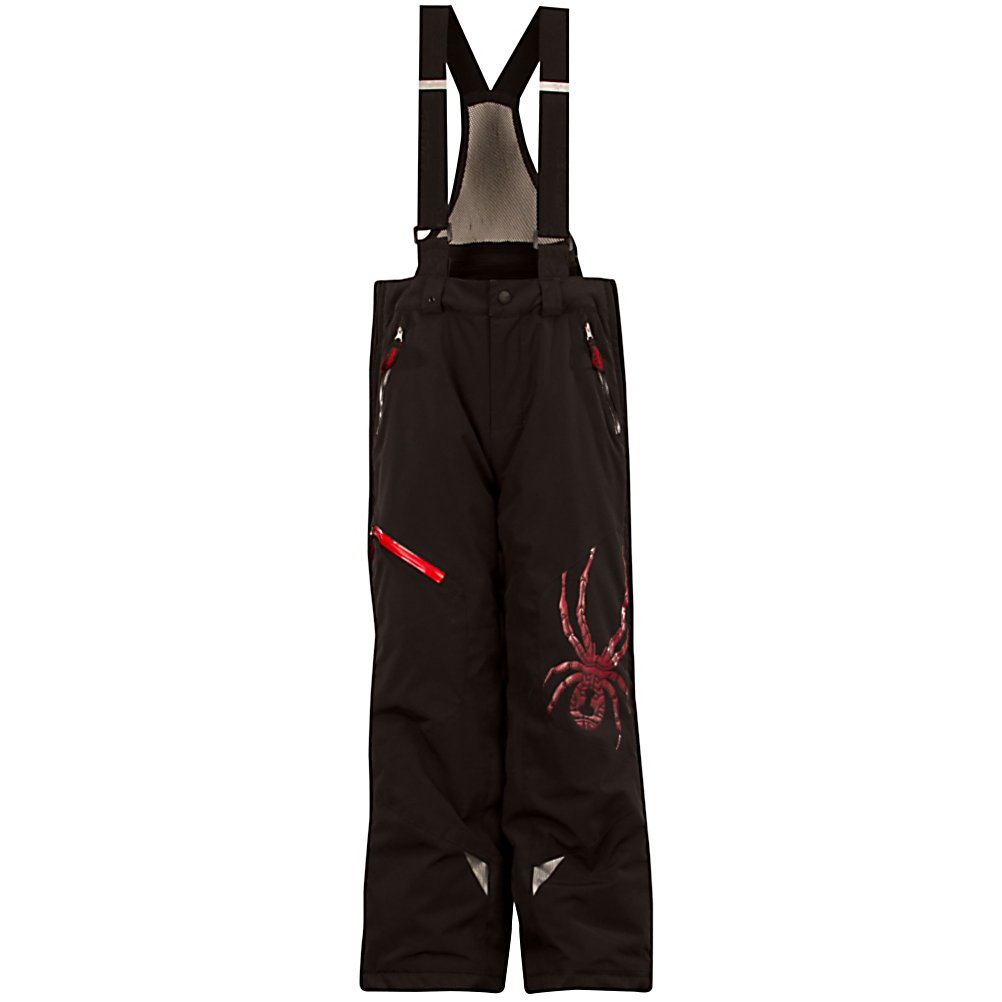 Ski Spyder Avenger Kids Ski Pants - The highest performance pant in the Spyder's Quest Line, the Avenger Ski pant is nothing less than amazing. With a chromed out Spyder logo and welding details, this is surely a new spin on a classic look. For the days that are frigid and windy your child will have the added protection of a Nylon Taffeta lining with ThermaWeb insulation. Waterproof hand pocket and leg pocket zippers; keep your Childs lunch money dry and their hands warm. Inner snow gaiters with gripper elastic and cuff anchors keep the Avenger Pant for rising up. Removable adjustable high back suspenders with mesh insert allows for them to add there own style to how they dress. With this Avenger Ski Pant by Spyder you'll be giving your little skier a waterproof, breathable, durable and warm pant that also boasts style and comfort. Features: Critically seam taped, Scuff guards, Brushed metal Spyder logos, Back flap pockets. Exterior Material: Stretch Polyester Plain Weave, Insulation Weight: 60g, Taped Seams: Critically Taped, Waterproof Rating: 10,000mm, Breathability Rating: 10,000g, Full Zip Sides: No, Thigh Zip Venting: Yes, Suspenders: Suspenders Removable, Gortex: No, Articulated Knee: No, Warranty: Lifetime, Race: No, Waterproof: Mild Waterproofing (5,001 - 10,000mm), Breathability: Mild Breathability (5,001 - 10,000g), Use: Ski, Type: Insulated, Pant Fit: Regular, Lining Material: Nylon Taffeta, Waist: Adjustable, Pockets: 3-4, Model Year: 2013, Product ID: 309611, Model Number: 125052 001 8, GTIN: 0886 - $99.99