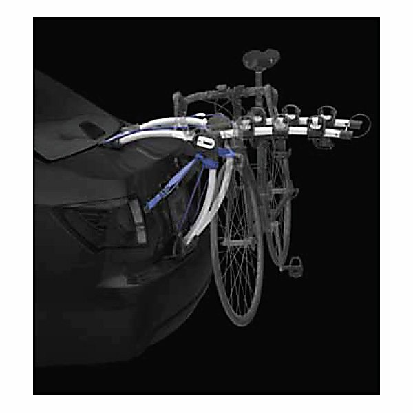 Fitness Thule Archway 3 Bike Rack - The Archway lockable rear mounted bike carrier combines the ease of storage with the added security that comes with premium hitch rack bike carriers. The integrated locking cable secures bikes to the rack and TrunkLocker strap secures the rack to the vehicle for quick and easy installation and loading. The long arching tubes provide more clearance over car spoilers allowing the Archway to fit on even more vehicles. The Archway is equipped with the patented FitDial with Quick-Fit lever, and easily adjusts to your vehicle providing a perfect fit. The cinch lever allows bike arms to adjust independently and easily to fit unique bike frames. The Anti-sway cages prevent bike to bike and bike to vehicle contact; while the Stay-Put cradles with soft saddle materials protect your bike's finish. The Archway also has oversized molded pads to protect the finish of your vehicle. This version carries up to three bikes. Features: Carries up to 3 bikes. Mount Type: Trunk, Bike Capacity: 3, Fork Mount: No, Model Year: 2013, Product ID: 217304, Shipping Restriction: This item is not available for shipment outside of the United States. - $188.95