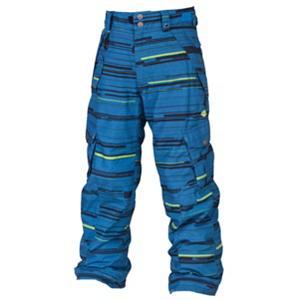 Snowboard 686 Smarty Original Cargo Kids Snowboard Pants - When it comes to keeping kids warm, you want to go with insulation and waterproofness without hurting their comfort level or mobility. The 686 Smarty Original Cargo Snowboard Pants are a great choice for any young rider of any skill level. These pants are treated with infiDRY-8 which provide plenty of protection against the winter weather and they have a heat index rating of 9 which is sure to keep your child feeling quite warm on the coldest of days. Helping with that is the 3-in-1 design which has a removable and very cozy microfleece liner. This adds another layer of protection which can easily be removed if the temperatures heat up and the sun comes out. Critically taped seams and an 8k waterproof rating helps keep the cold moisture from coming in while allowing the sweat and body moisture a way to still escape. Plenty of pockets allow them to stash tissue for runny noses, lip balm, wallets and more. With its style and comfort as well as plenty of features to keep them warm and dry, the 686 Smarty Original Cargo Snowboard Pants are great for the little rider who wants to shred all day. . Exterior Material: 100% Poly Peached Oxford, Insulation Weight: 40 Grams, Taped Seams: Critically Taped, Waterproof Rating: 8,000mm, Breathability Rating: 5,000g, Full Zip Sides: No, Thigh Zip Venting: Yes, Suspenders: None, Articulated Knee: Yes, Warranty: One Year, Race: No, Waterproof: Mild Waterproofing (5,001 - 10,000mm), Breathability: Low Breathability (< 5,000g), Pant Fit: Regular, Lining Material: 100% Nylon Taffeta, Waist: Beltloops, Model Year: 2013, Model Number: L2W601A BLU S, GTIN: 0883510200203, Product ID: 309431, Pockets: 5-6, Use: Snowboard, Gortex: No, Softshell: No, Type: 3-in-1 - $79.92