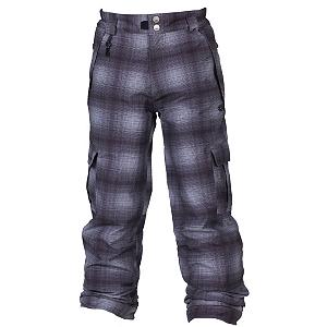 Snowboard 686 Mannual Ridge Plaid Kids Snowboard Pants - The 686 Mannual Ridge Snowboard Pants are warm and comfy choice for any young rider whether they spend the time frontside or in the park. These pants are equipped with a 5k waterproof and breathability rating so they will be protected against the chilly moisture that could seep in. The breathability will allow any moisture build up from sweating to escape easily so they stay warm and dry. The 100% Nylon Taffeta lining is super cozy and adds to their warmth and comfort and 80 Grams of insulation ensures that the heat remains on the inside. They will have two cargo pockets to help keep the things they want close by easily stored and dry. With a warmth rating of 7, the 686 Mannual Ridge Pants are sure to help keep your child warm on those days when the temperatures dip close to zero. . Exterior Material: 100% Poly Peached Oxford, Softshell: No, Insulation Weight: 80 Grams, Taped Seams: Critically Taped, Waterproof Rating: 5,000mm, Breathability Rating: 5,000g, Full Zip Sides: No, Thigh Zip Venting: No, Suspenders: None, Gortex: No, Articulated Knee: Yes, Warranty: One Year, Race: No, Waterproof: Water Resistant (< 5,000mm), Breathability: Low Breathability (< 5,000g), Use: Snowboard, Type: Insulated, Pant Fit: Regular, Lining Material: 100% Nylon Taffeta, Waist: Elastic, Pockets: 5-6, Model Year: 2013, Product ID: 309442, Model Number: L2W602A GRY XS, GTIN: 0883510200364 - $79.95