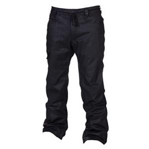 Snowboard 686 Reserved Raw Wax Mens Snowboard Pants - When you need a reliable pair of snowboard pants then you should be wearing the 686 Reserved Raw Wax Snowboard Pants. These pants have an infiDRY-10 rating providing great protection against some of the harshest weather that winter wants to throw your way. It does have a warmth rating of 4 which means they will keep you cozy in temps hovering around 20 degrees but anything lower and you'll want to add some layers. But when it comes to keeping you dry, you'll have critically taped seams and a 10k waterproofness keeping the chilly precipitation on the outside. There are five pockets to help ensure that everything you need is nearby so feel free to bring your wallet, Chapstick and car keys. Enough style to keep you looking good and enough features to keep you warm and comfortable, the 686 Reserved Raw Wax Snowboard Pants are a trendy choice for the versatile rider. . Exterior Material: 98% Cotton, 2% Poly Blend Wax Denim, Softshell: No, Insulation Weight: 40 Grams, Taped Seams: Critically Taped, Waterproof Rating: 10,000mm, Breathability Rating: 8,000g, Full Zip Sides: No, Thigh Zip Venting: Yes, Suspenders: None, Gortex: No, Articulated Knee: Yes, Cargo Pockets: Yes, Warranty: One Year, Race: No, Waterproof: Mild Waterproofing (5,001 - 10,000mm), Breathability: Mild Breathability (5,001 - 10,000g), Use: Snowboard, Type: Insulated, Pant Fit: Regular, Lining Material: 100% Nylon Taffeta, Waist: Beltloops, Pockets: 5-6, Model Year: 2013, Product ID: 309410, Model Number: L2W205A BLK M, GTIN: 0883510193604 - $129.89