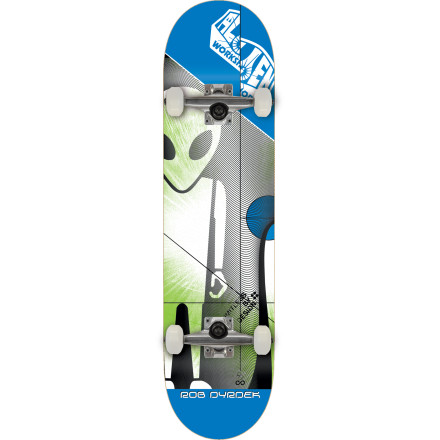 Skateboard The Alien Workshop Dyrdek Solar Soldier Complete Skateboard is assembled, pre-gripped, and ready to thrash right out of the box. Available in both mini and full-size versions to fit skaters of any age. - $109.95