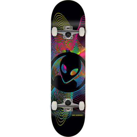 Skateboard Travel through time with the retro spirograph graphic on the Alien Workshop Spirogyro Complete Skateboard. Comes fully assembled with skate-shop-quality components and ready to shred right out of the box. - $99.95
