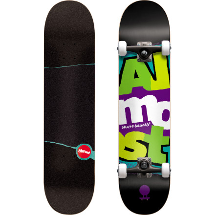 Skateboard Who says you have to drop two bills to get a quality setup The Almost Marquee Stack Complete Skateboard is fully gripped, assembled, and ready to rip right out of the box. - $89.95