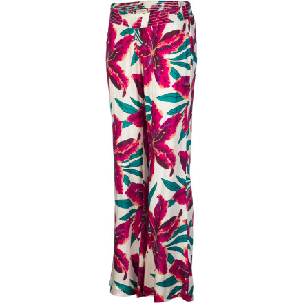 Surf Toss on the Billabong Women's Gypsy Outlaw Smocked Pant, grab your tote bag, and make your way to the beach in order to get a good spot for people watching. - $33.53