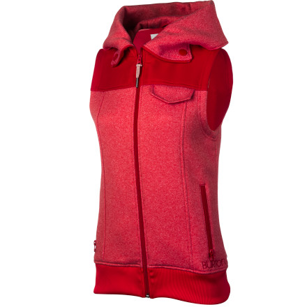 Snowboard Throw on the Burton Starr Vest under your snowboard jacket to add critical core warmth on frigid days, or wear it around town over your favorite long-sleeve for fleecy feminine style. - $79.95