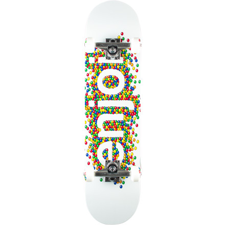 Skateboard Satisfy your skate sweet tooth with the Enjoi Candy Coated Complete Skateboard. Fully assembled and ready to shred, the Candy Coated deck features Resin-7 epoxy construction for a lighter, stronger deck with less glue weight. - $99.95