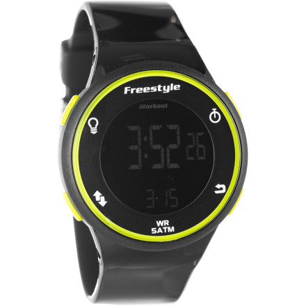 Camp and Hike The Freestyle USA Sprint Watch is a sport watch that doesn't mind going out for drinks after its work at the gym is done. It features a 1/100s stopwatch for accurate timing and is water-resistant up to thirty meters so swimming or sweating won't affect it. On top of that, its sleek, subtle styling won't look out of place when you're not in your workout clothes. - $44.95