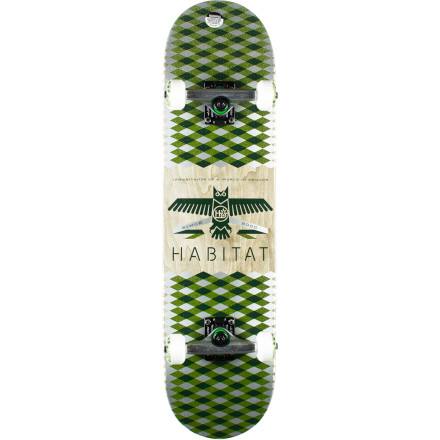 Skateboard Roll up to the skatepark on a fresh setup with the Habitat Mantle Complete Skateboard. It has a crisp Canadian maple deck with a medium concave that's fun to shred on for any type of skater. - $99.95