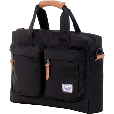 Your daily shoulder bag requires equal parts style and functionality, and, on those points, the Herschel Supply Totem Messenger Bag delivers. The removable shoulder strap adjusts for a comfy carry, and the fleece-lined padded sleeve keeps your laptop safe while you navigate your way to the office. - $89.95