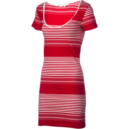 Entertainment The Lifetime Striped Dylan Dress gives you a laid-back, athletic look that doesn't require a lot of accessorizing or high-fashion accoutrements. All you have to do it slip into this dress and some shoesyou'll be ready for relaxed lunch dates or evening beach walks when you want to look effortlessly beautiful. - $52.76