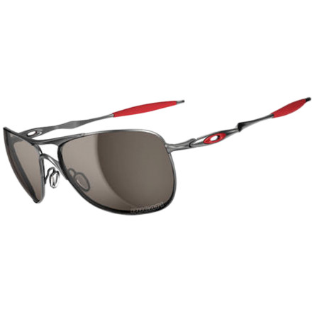Camp and Hike Many of Ducati's racers rely on Oakley for their eyes when they ride, and the designers at Oakley have always respected the design genius of the engineers at Ducati. It only makes sense that the two cutting-edge companies would collaborate to create the Ducati Crosshair Sunglasses. The lightweight C-5 alloy frame bears Ducati's colors to pay homage to the iconic company, and the Ducati logo is laser-etched into the bottom corner of the Plutonite lens. Oakley's High Definition Optics ensure maximum peripheral vision while also providing the highest level of clarity and protection. - $160.00