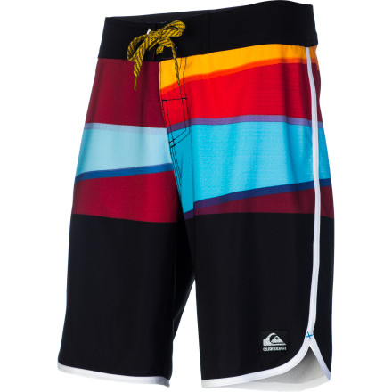 Surf The Quiksilver Repel Board Short features a modern 20-inch outseam and four-way stretch diamond dobby fabric for awesome mobility and comfort in and out of the water. - $55.80