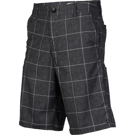 Surf Whether it's work, school, surfing, or skating, you're always on your grind, so get a short that can keep up with your lifestyle with the Rip Curl Grinds Plaid Men's Boardwalk Short. It has chino styling that looks good for everyday wear, but with a quick-drying fabric so you can cut class and hit the surf when the swells suddenly pick up. - $29.67