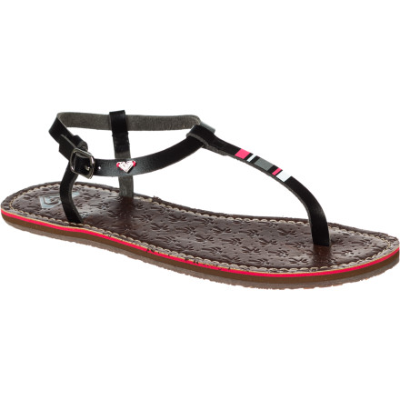 Surf With a painted t-strap design and pop-color midsole, the Roxy Salma Sandal puts the finishing touch on your latest warm-weather ensemble. - $27.20