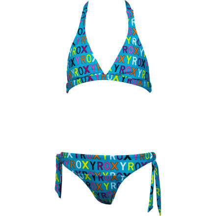Surf Roxy Caliente Sun Shore Halter Swimsuit - Girls' - $46.00