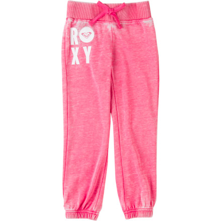Surf Keep your little beach bum looking cute and feeling comfy with the Roxy Maui Wowie Toddler Girls' Pant. It has a soft fleece fabric that will keep her cozy throughout the day. - $38.00