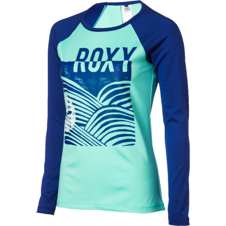 Surf It's been a long winter, so when you finally get back into the water protect your skin from sun and sand with the Roxy Wave Crest Women's Long-Sleeve Rashguard. The stretchy fabric prevents rashes on your torso when you're paddling out and protects against sunburn during long days in the lineup. - $46.00