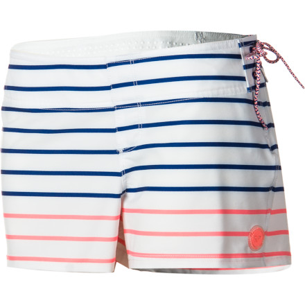 Surf You're on the water at dawn and you're catching waves until dusk, so stay comfy while you're out on your board in the Roxy Sunrise Women's Board Short. It has a stretchy polyester fabric for unrestricted movement while you're surfing, and a zippered back pocket holds your chapstick or sunscreen so you don't have to head back to shore to reapply. - $54.00